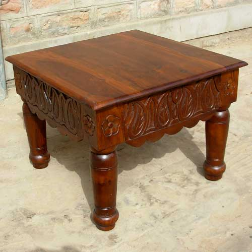 2K. Elegant Square End Side Table