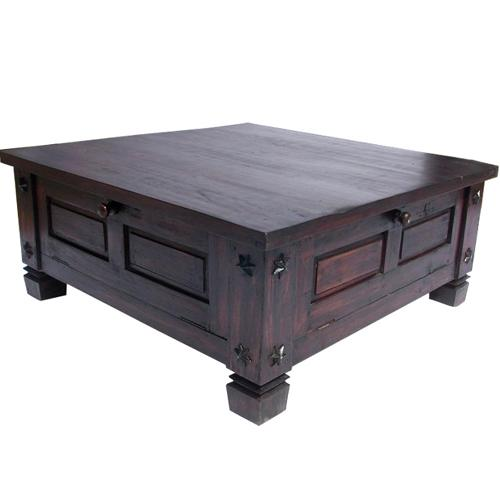 Solid Wood Square Storage Box Coffee Cocktail Sofa Table