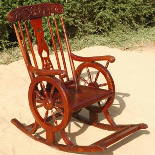 Details about Vintage Wood Outdoor Glider Rocking Chair Furniture New