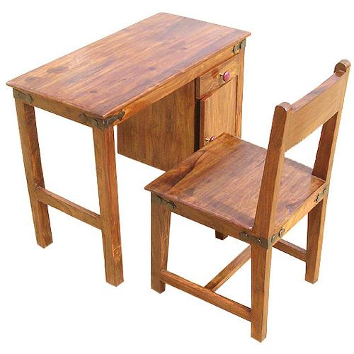 solid wood kids student writing desk chair study table