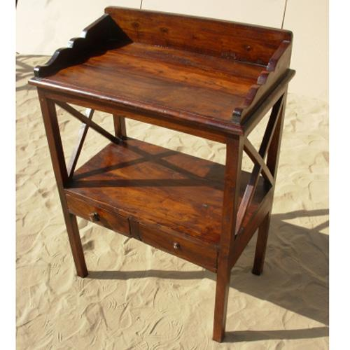 1O. Solid Hard Wood Antique Side Bedside Table Furniture