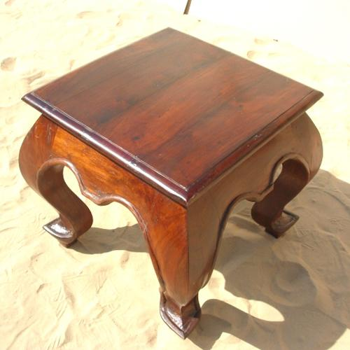 1U. Rustic Wood Square Japan End Sofa Side Table Furniture