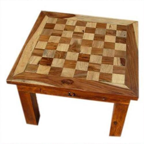 1P. Wood Chess Side End Corner Table Nightstand Side Drawer