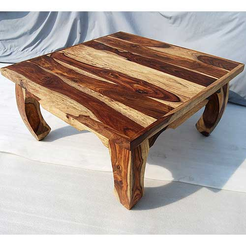 Solid Wood Large Rustic Sofa Cocktail Square Coffee Table Living Room Furniture Ebay