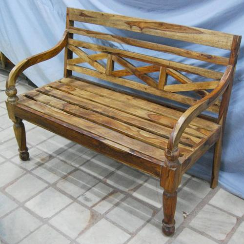 Solid Wood Carved Antique Style Outdoor Sofa Bench