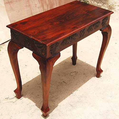 Used Foyer Furniture : Rustic solid wood carved console foyer entry hall way