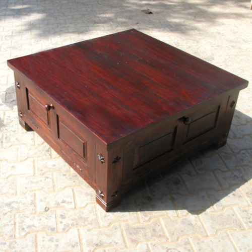 Solid Wood Square Storage Box Trunk Sofa Coffee Table In Cherry W