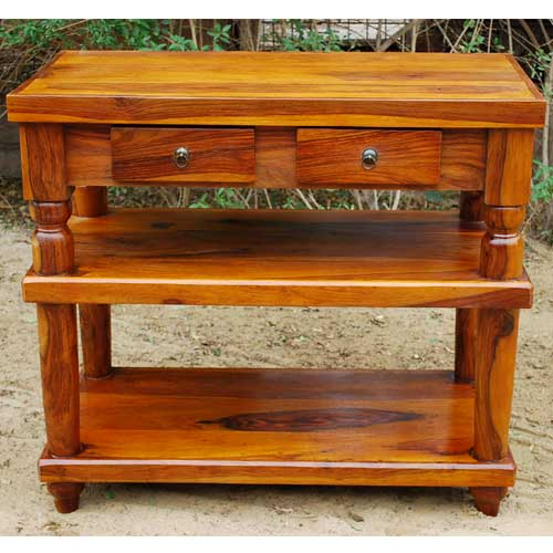 Solid wood handmade entry way console hall table foyer