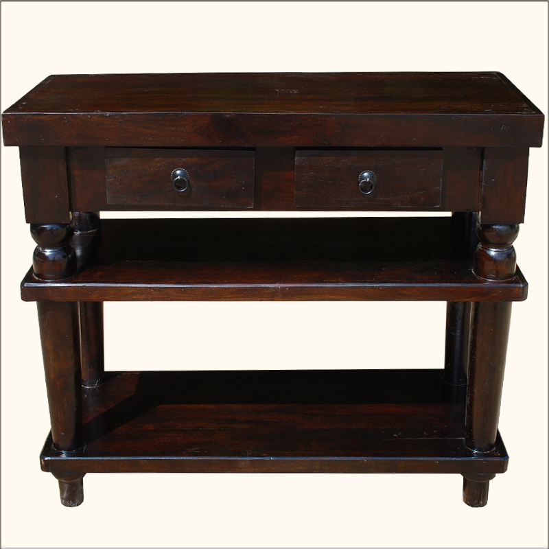 Solid Wood Console Tables With Storage ~ Sierra mahogany solid wood storage drawers hall entry