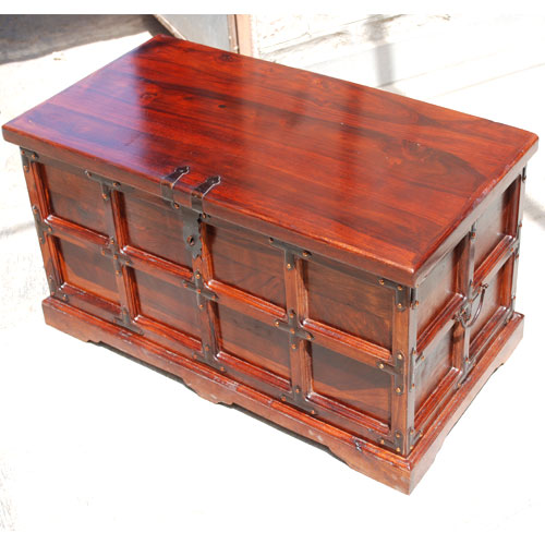 Solid Wood Chest Coffee Table: Rustic Solid Wood Hope Chest Blanket Box Storage Coffee