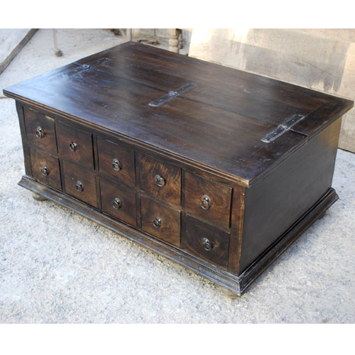 Unique Pillbox Storage Box Trunk Living Room Coffee Table Rustic Furniture New Ebay