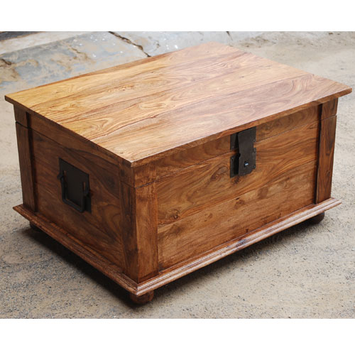 Handmade Solid Rosewood Storage Box Trunk Coffee Table Chest Rustic Furniture Ebay