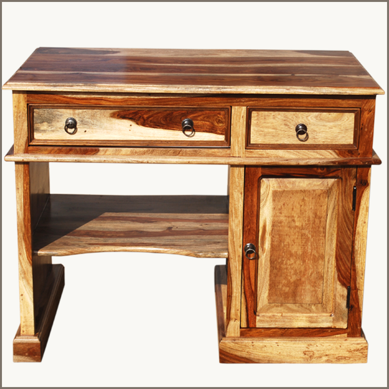solid wood office work computer desk study table laptop