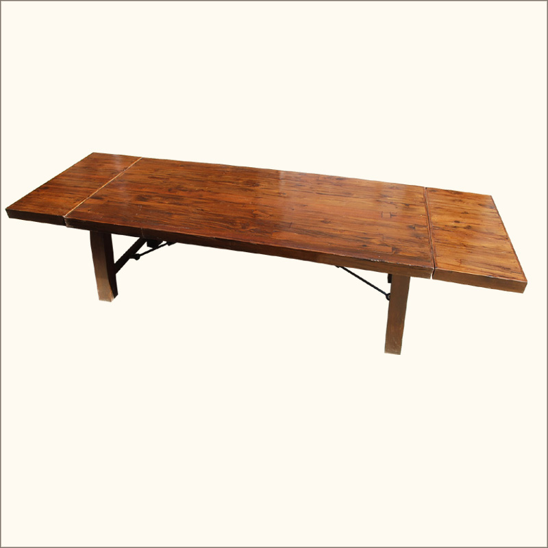large rustic dining table seats 12 people with extension solid wood