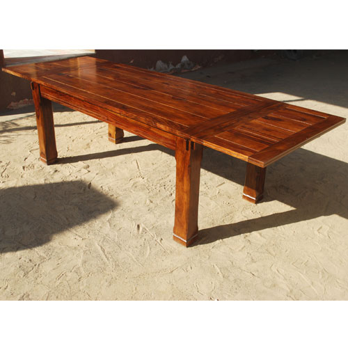 rustic dining table solid wood large family contemporary extension