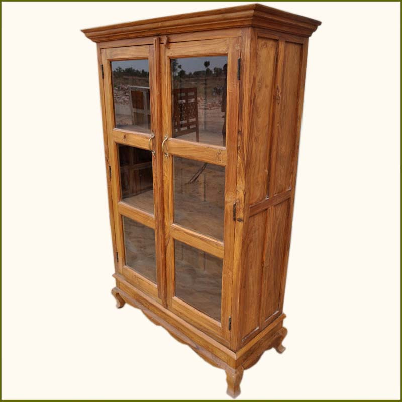 1C. Lincoln Study Solid Wood Glass Door Bookcase