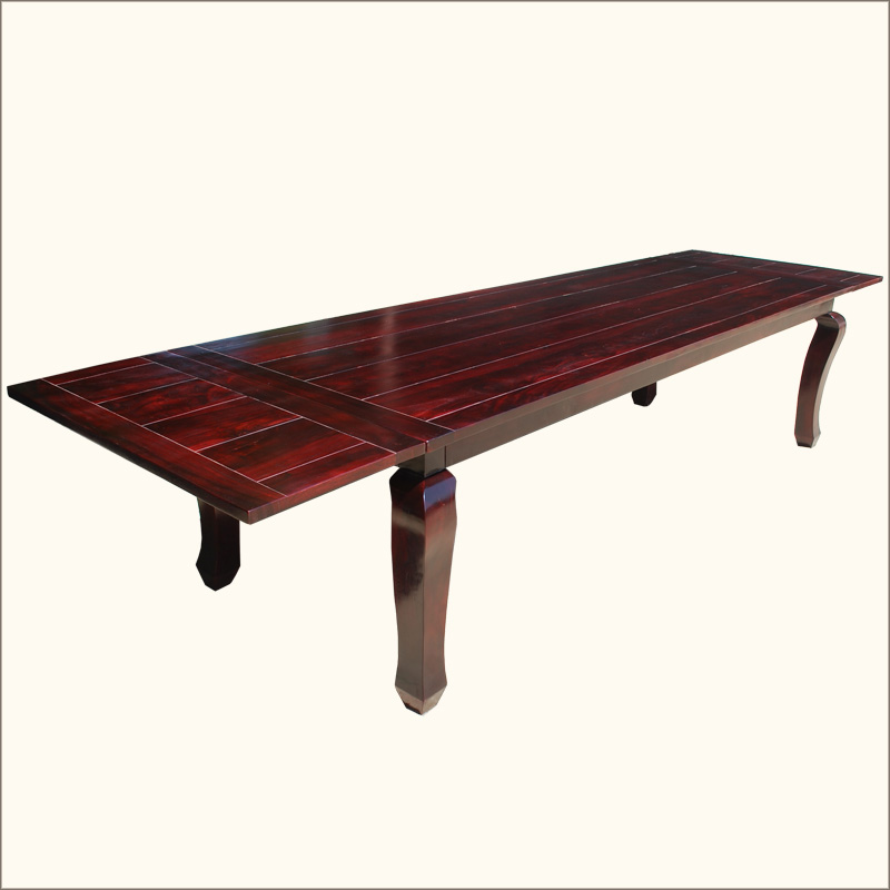 144 Large Dining Room Extendable Table Solid Wood Furniture Seats 14 Pe