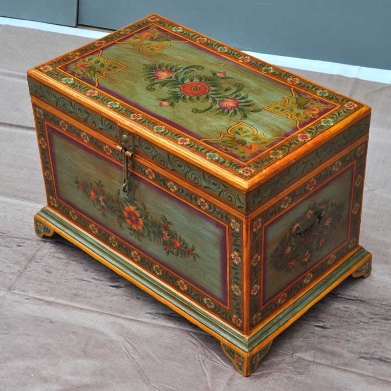 Victorian Hand Painted Mango Wood Coffee Table Storage Box Chest Free Shipping Ebay
