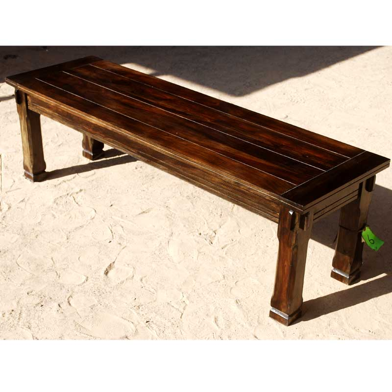 Rustic Unique Wooden Backless Bench Dining Room Indoor Outdoor Furniture New Ebay