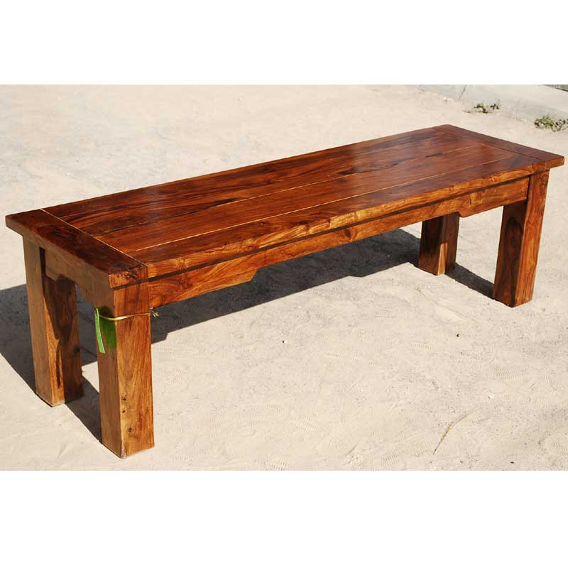 Solid Wood Rustic Backless Bench Dining Patio Outdoor Indoor Furniture New Ebay