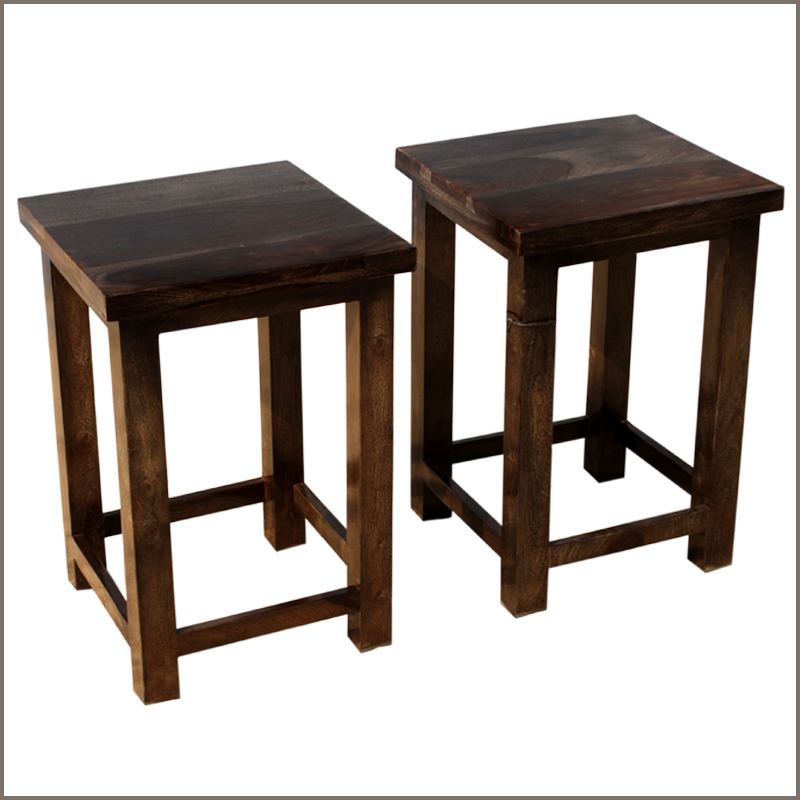 1F. Appalachian Rustic Square 2pc Nightstand Set