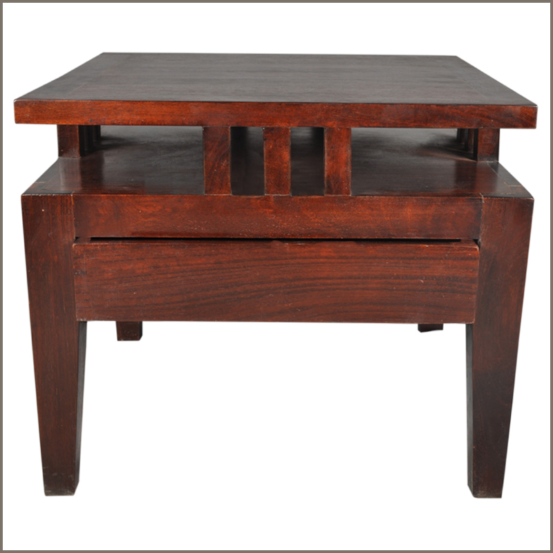 1B. Santa Fe Elevated Platform Accent & Display Table