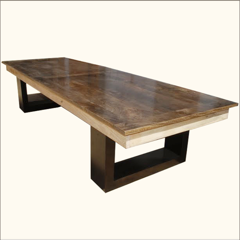 Large Modern Dining Room Tables: Large Contemporary Solid Hardwood Dining Room Table 6 People Furniture