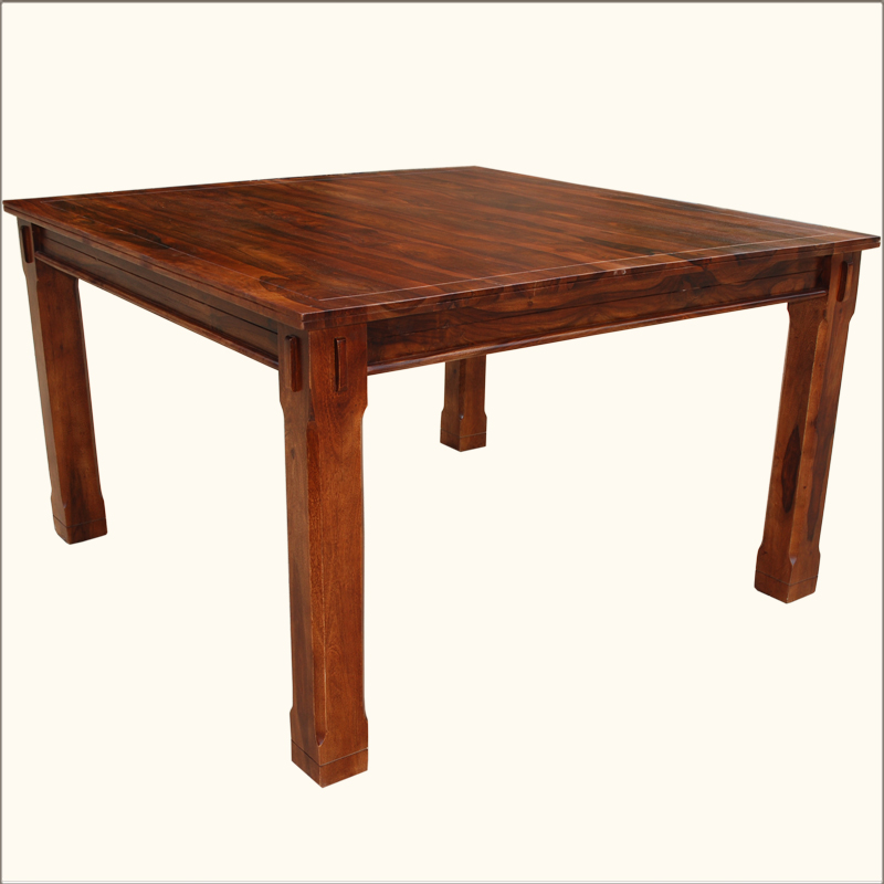 8 Chair Square Dining Table: Square Dining Table For 8 Person Counter Height Solid Hardwood Rustic Furniture