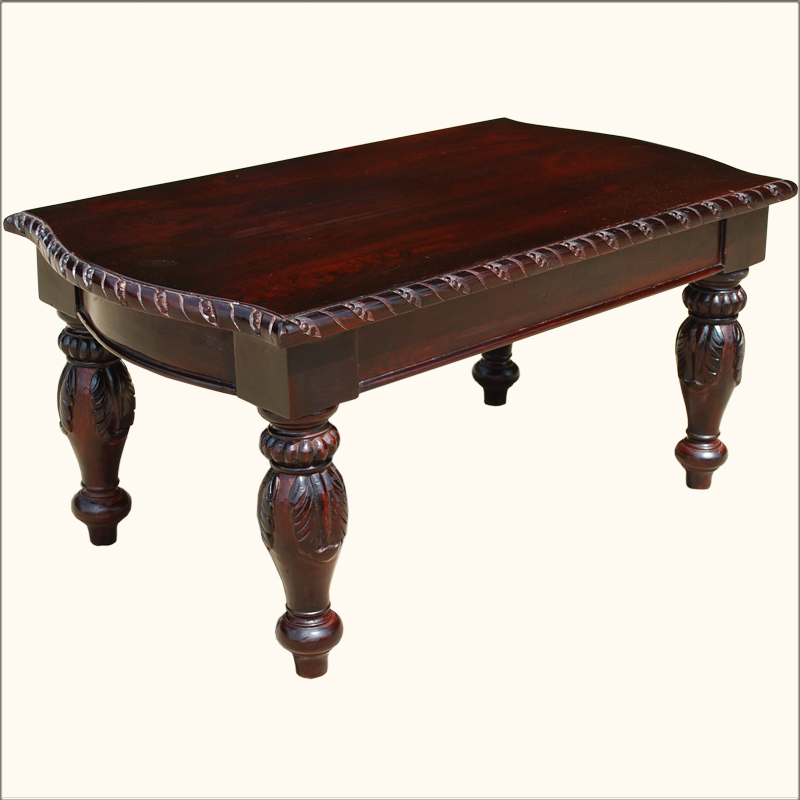 1A. American Empire Wooden Hand Carved Ornate Coffee Table