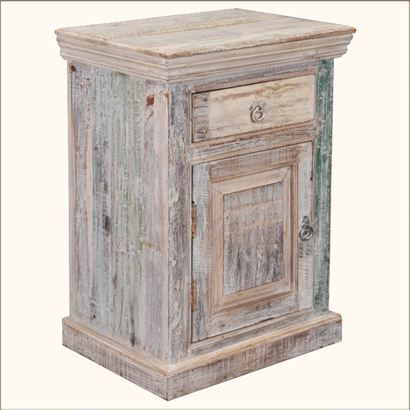 1. Sierra Burst Reclaimed Wood End Table