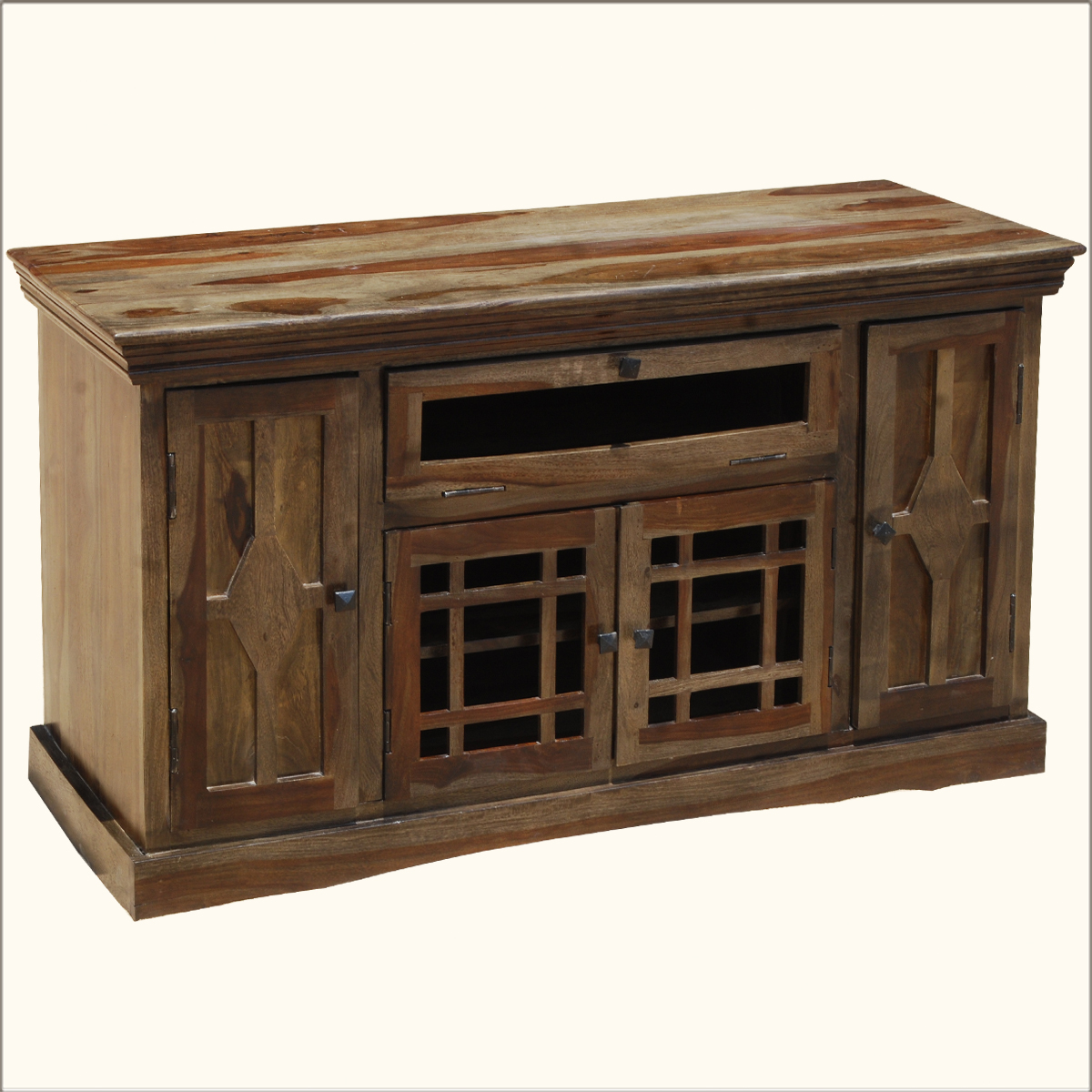 Contemporary wood entertainment tv stand media center cabinet console furniture ebay Wooden entertainment center furniture