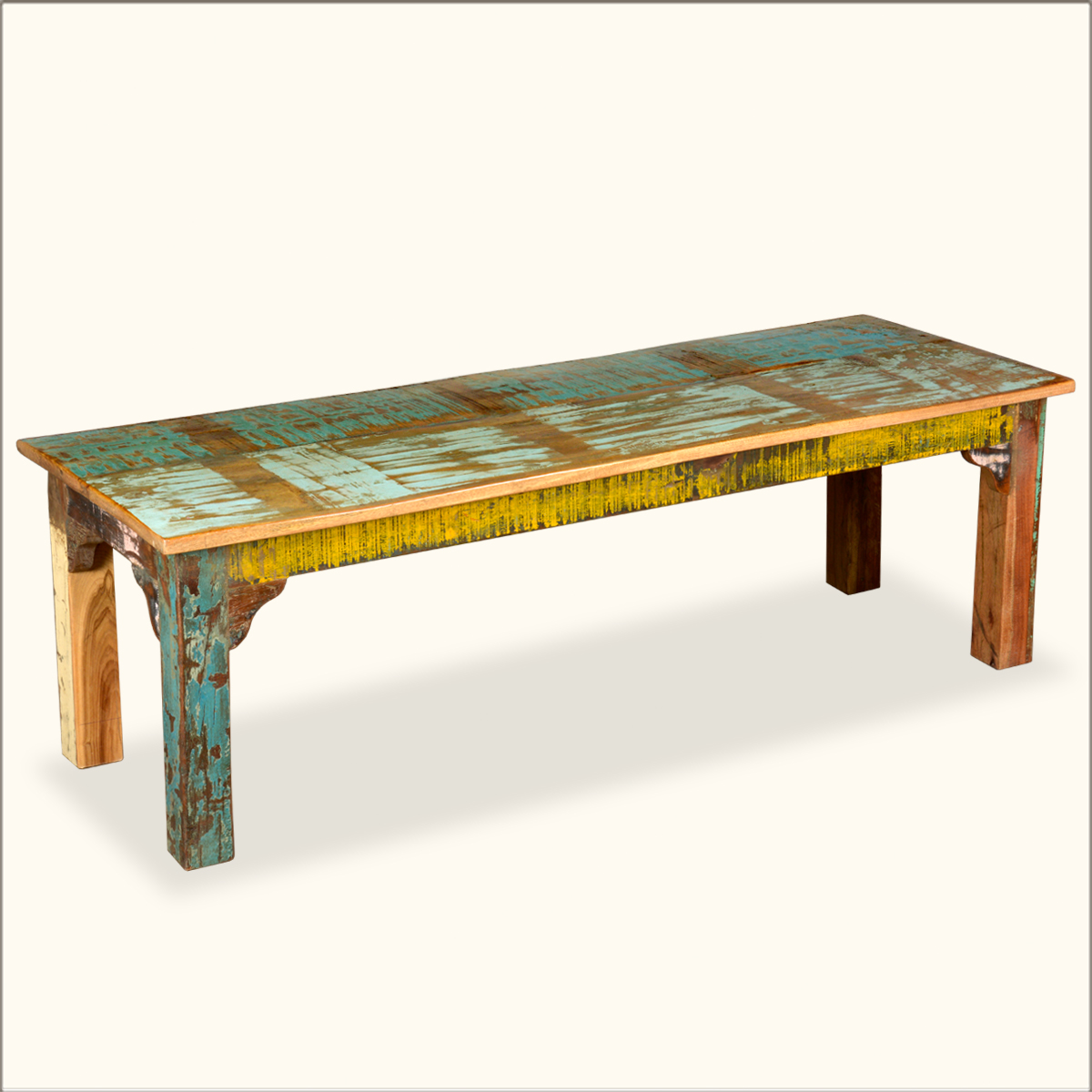 Reclaimed Wood Rustic Indoor Outdoor Patio Bench Seat Furniture Ebay