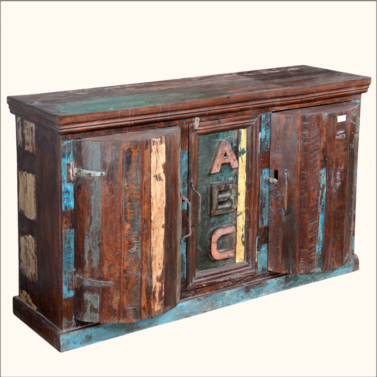 Reclaimed Wine Bar Rustic Wood Rack Floor Standing Buffet Cabinet Furniture Ebay