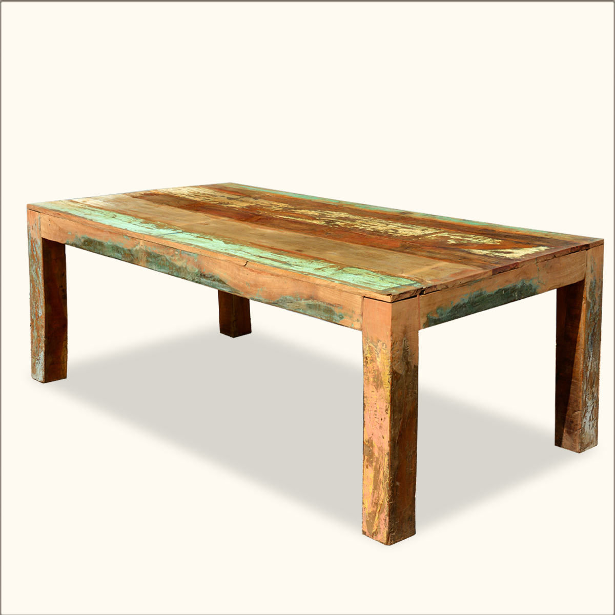 reclaimed large dining table rustic for 8 distressed wood furniture