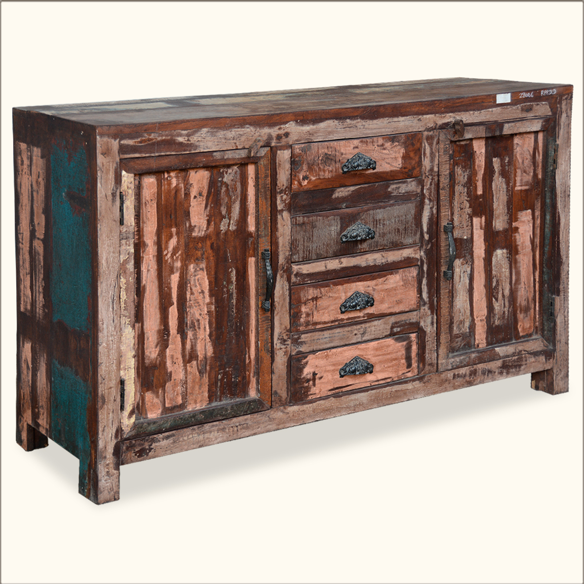 Distressed Wood Buffet ~ Distressed sideboard cabinet rustic reclaimed wood