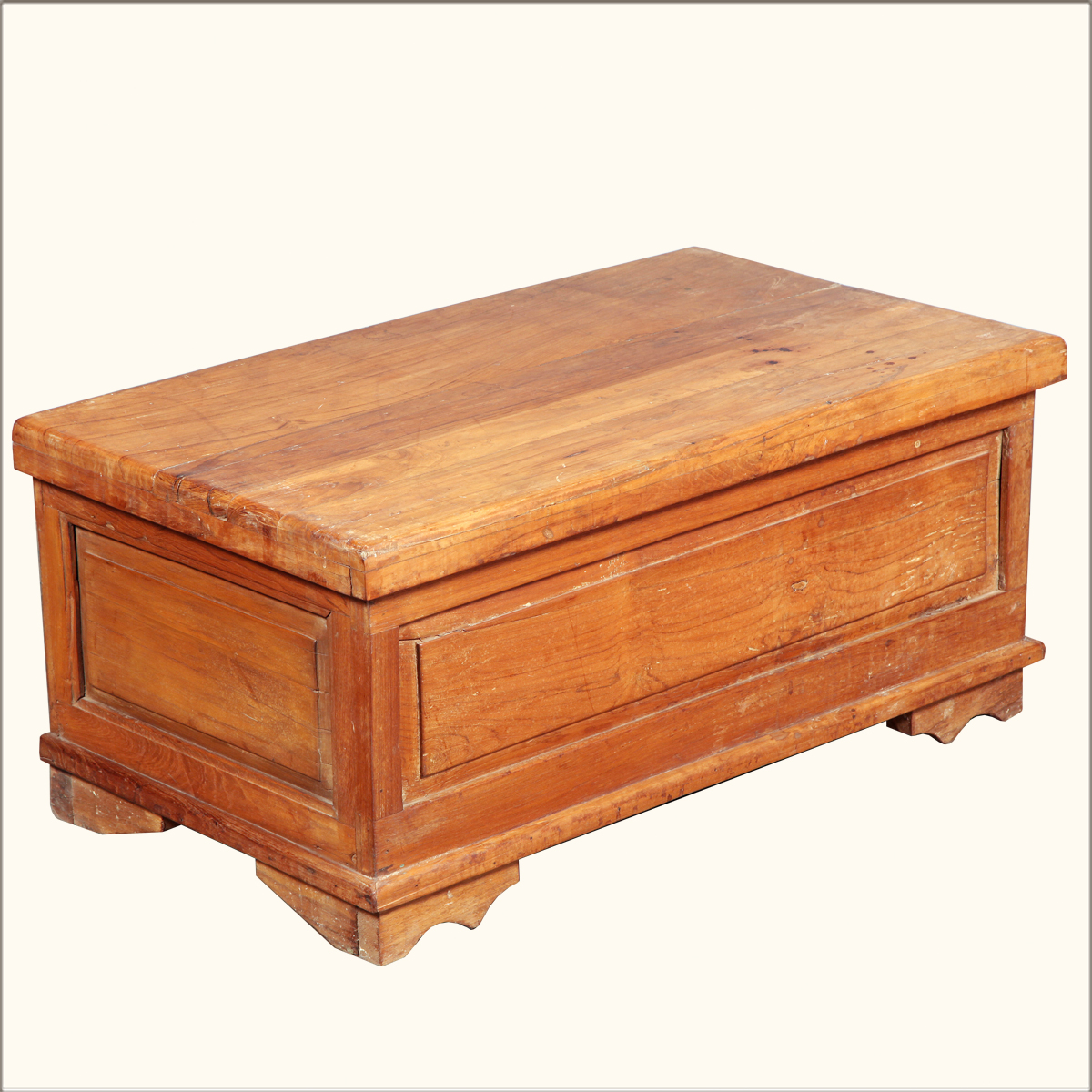 Shaker reclaimed wood rustic storage coffee table chest hope box trunk furniture ebay Coffee table chest with storage