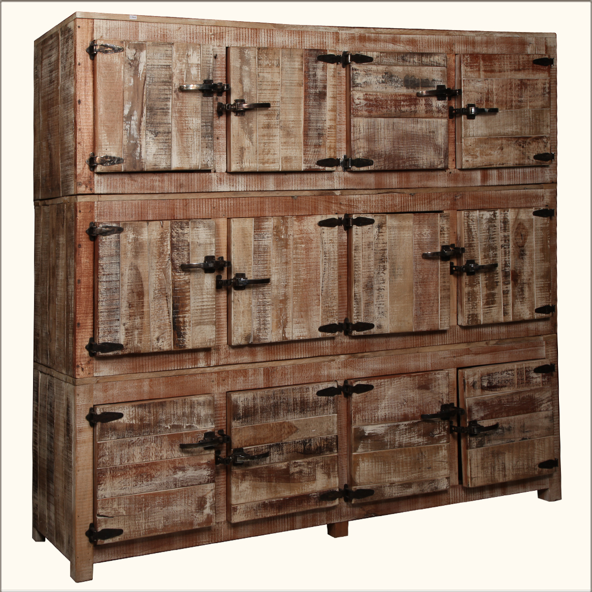 Square cubbies reclaimed wood large wall unit storage