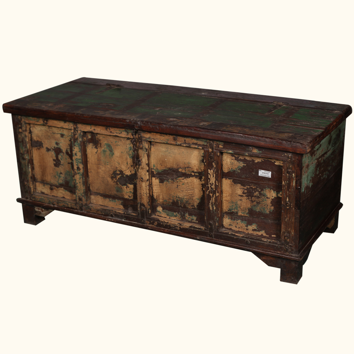 Storage Box Coffee Table Rustic Distressed Reclaimed Wood Antique Style Trunk Ebay