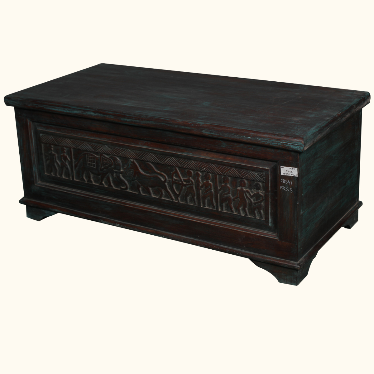 Solid mango wood hand carved storage coffee table chest trunk blanket hope box ebay Coffee table chest with storage