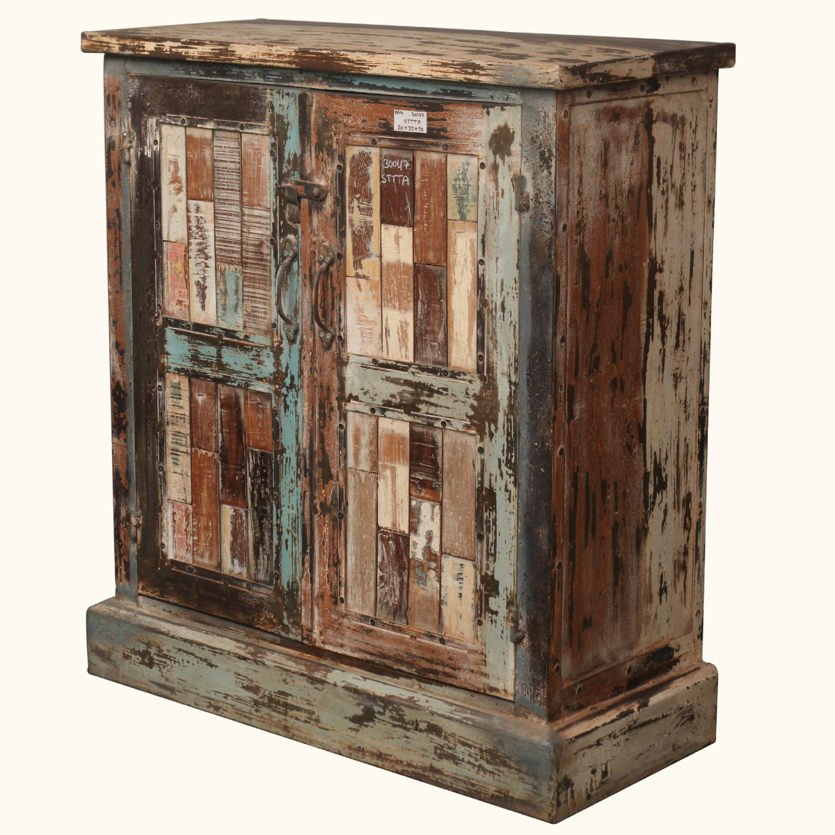 Wood Buffet Cabinet ~ Rustic old reclaimed wood distressed storage buffet