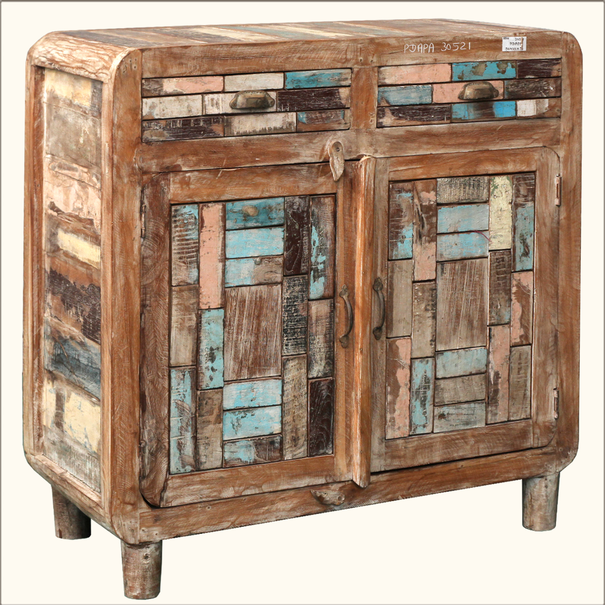 Distressed Wood Buffet ~ Distressed reclaimed wood buffet storage drawer cabinet