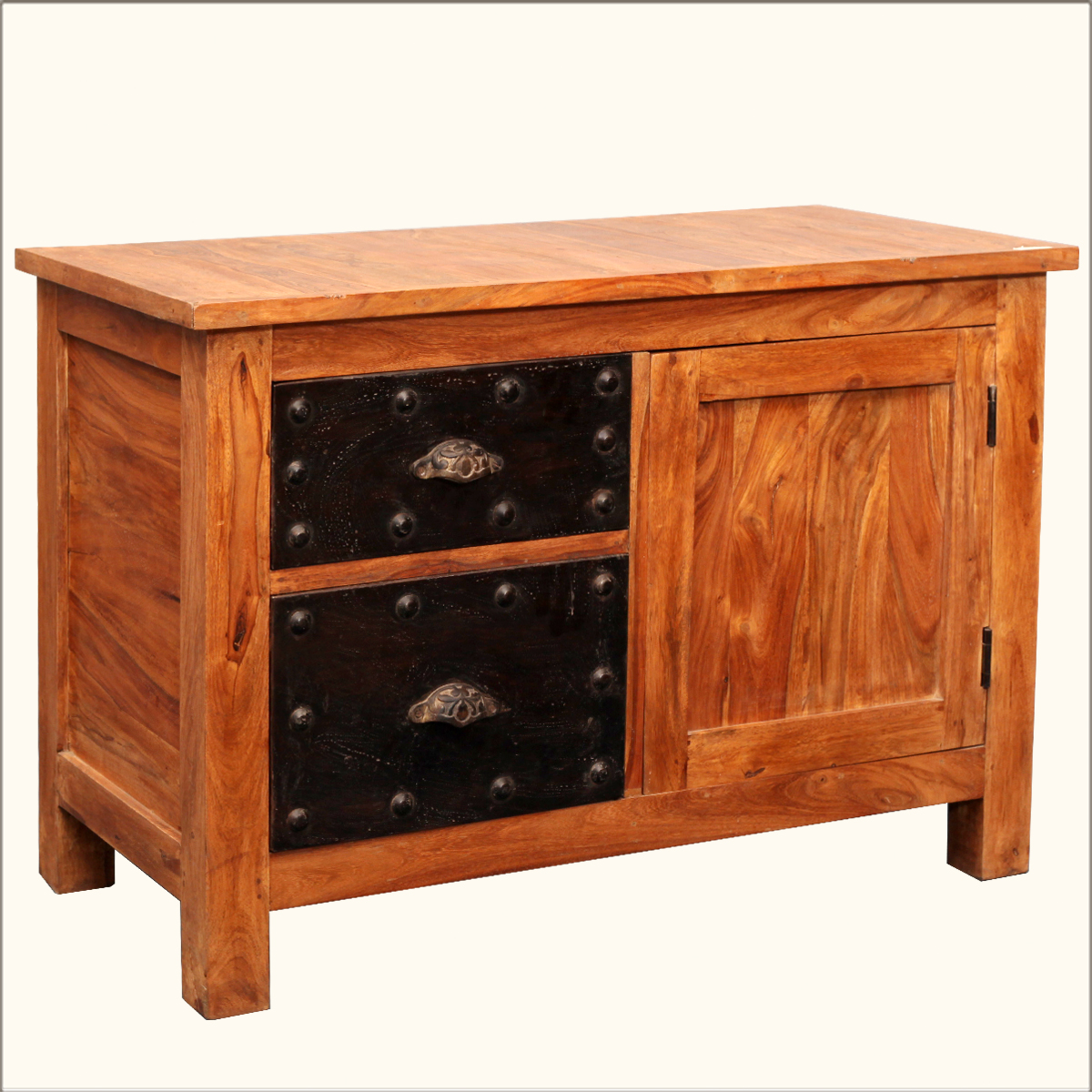 Contemporary Storage Buffet Reclaimed Wood Iron Rustic Sideboard . Full resolution  picture, nominally Width 1200 Height 1200 pixels, picture with #B48317.