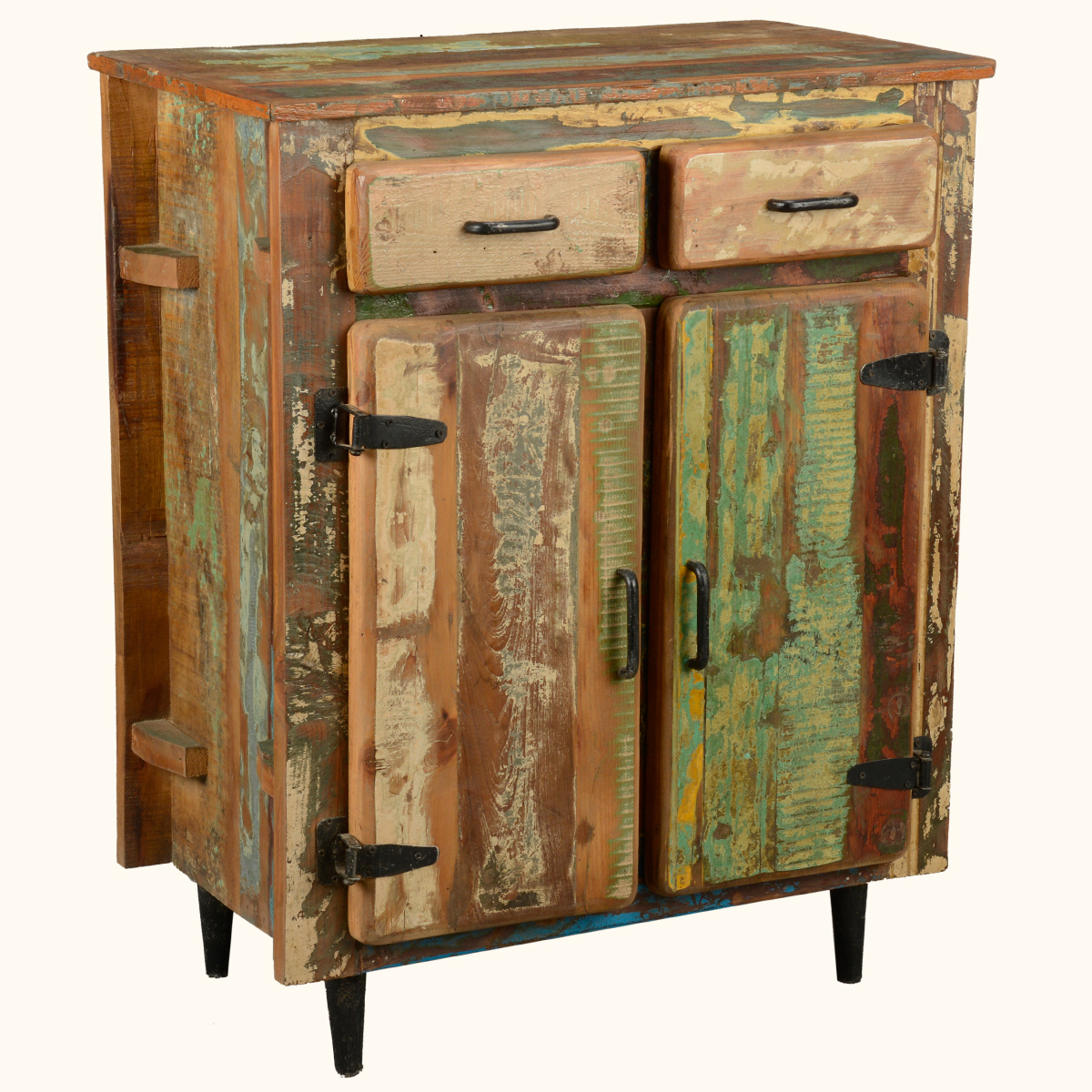 Reclaimed Old Wood Rustic Kitchen Utility Storage Cabinet Buffet Table Sidebo