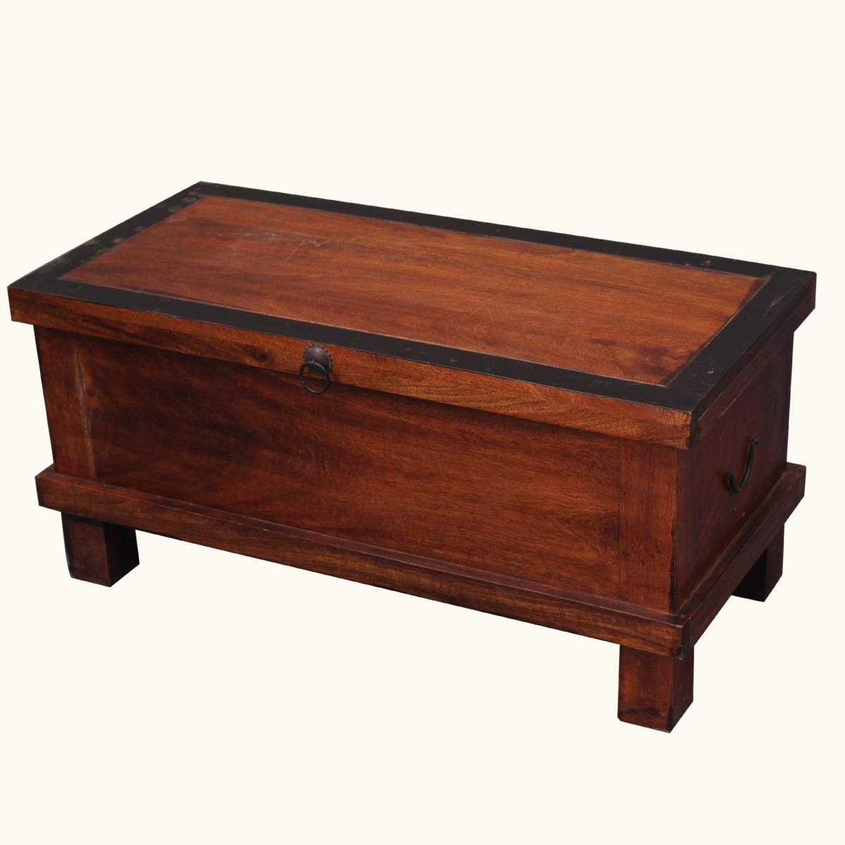 Rustic Solid Hardwood Storage Coffee Table Chest Blanket Hope Box Ebay: coffee table storage chest