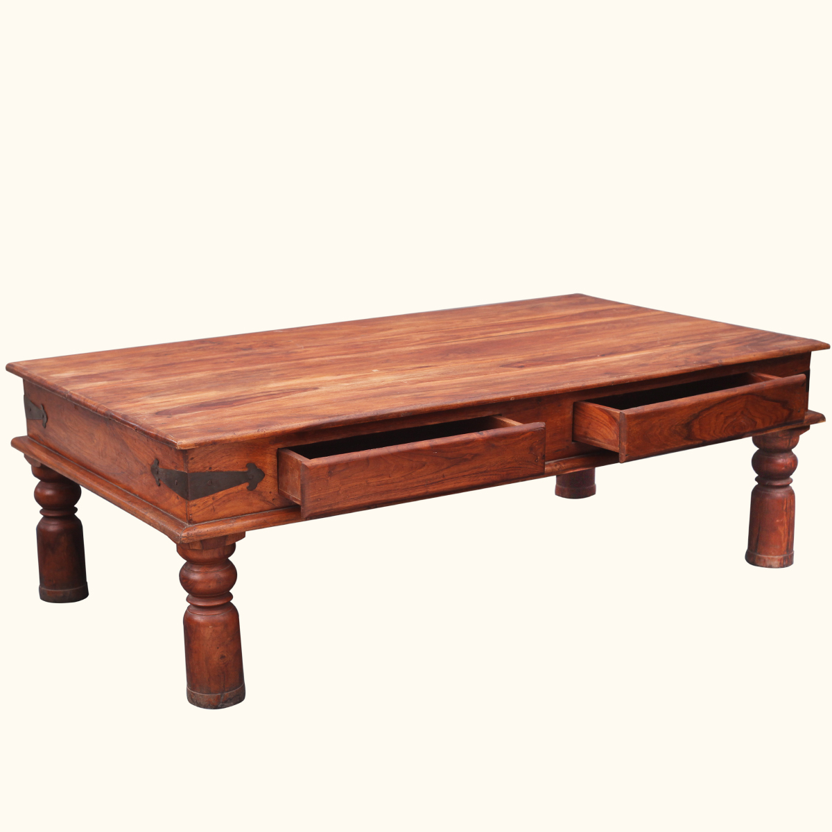 Coffee Table With Storage Drawers Rustic Wood Cocktail Furniture Ebay