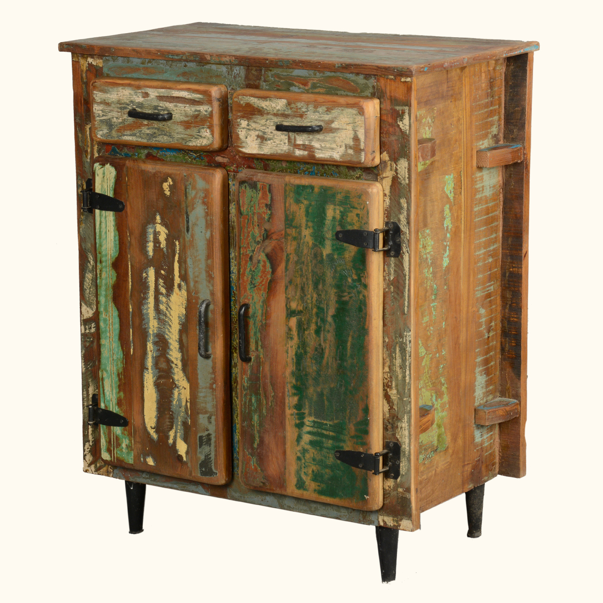 Reclaimed Wood Rustic Kitchen Utility Storage Cabinet Buffet Table Sideboard