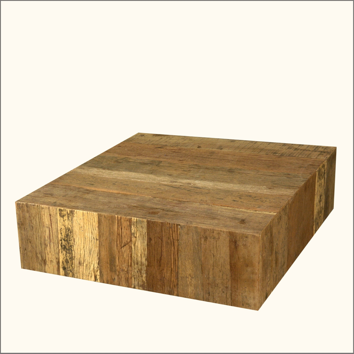 Reclaimed Wood Coffee Table Square: Rustic Railroad Ties Reclaimed Wood Square Sofa Cocktail
