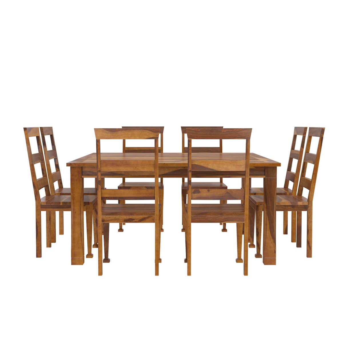 Appalachian Wood Rustic Square Dining Table And Chair