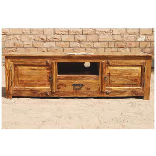 Rustic solid wood long appalachian tv stand entertainment