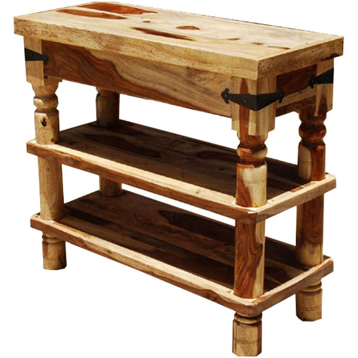 Appalachian Rustic 3 Tier Hall Console Table